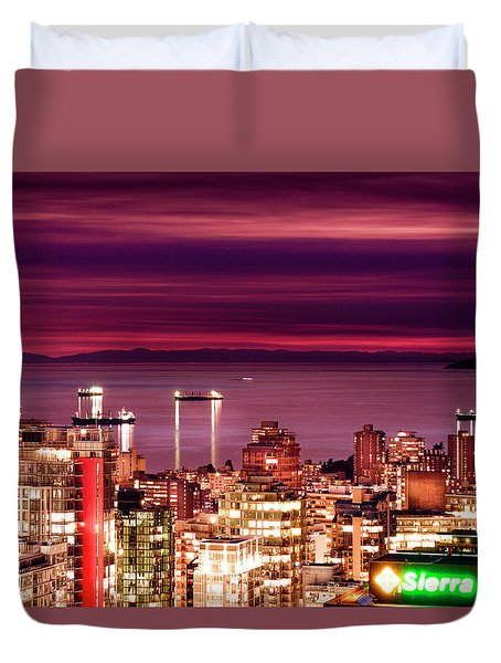 Romantic English Bay Duvet Cover by Amyn Nasser