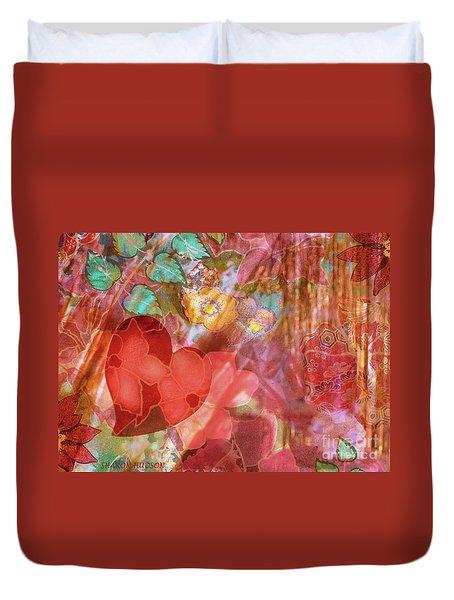 romantic floral fantasy - Veiled Heart Duvet Cover