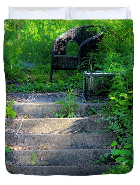 Romantic Garden Scene Duvet Cover by Teresa Mucha