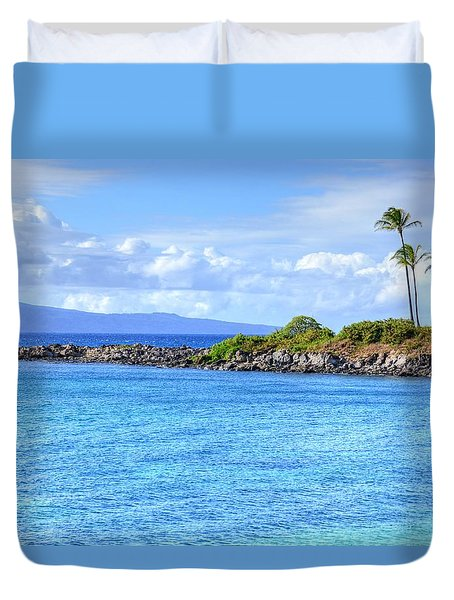 Duvet Cover featuring the photograph Romantic Kapalua  by Kelly Wade