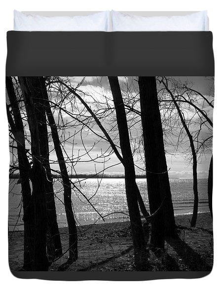 Duvet Cover featuring the photograph Romantic Lake by Valentino Visentini