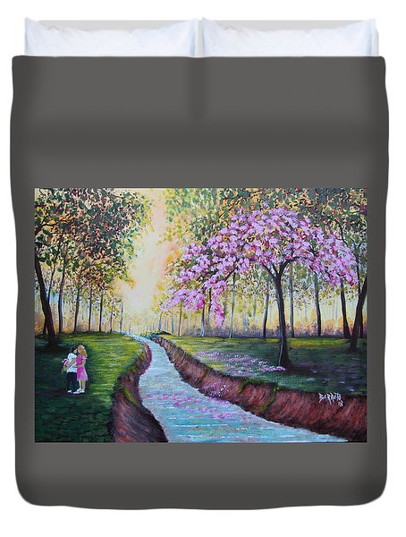 Romantic Moment Duvet Cover