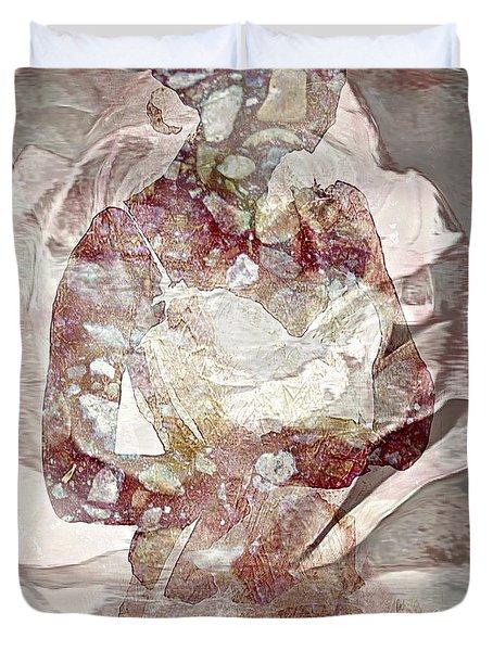 Romantic Rose Duvet Cover by Lynda Payton