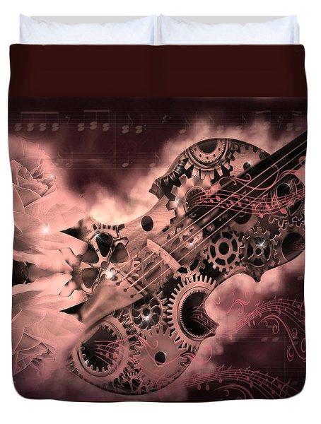 Romantic Stemapunk Violin Music Duvet Cover