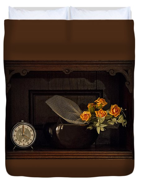 Duvet Cover featuring the photograph Romantic Still Life by Raffaella Lunelli