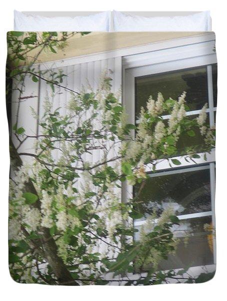 Romantic Window In Lisbon Duvet Cover