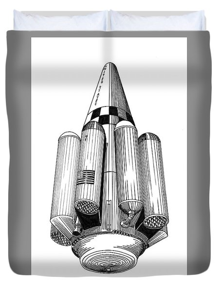 Rombus Heavey Lift Reusable Rocket Duvet Cover