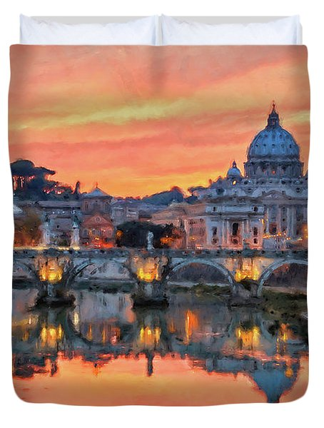 Rome And The Vatican City - 01  Duvet Cover