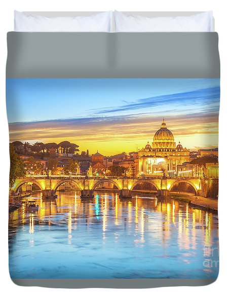 Rome At Twilight Duvet Cover