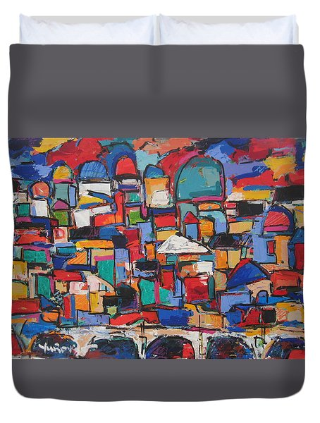 Rome, Bridge Of Angels Duvet Cover