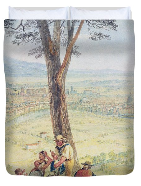 Rome From Monte Mario Duvet Cover by Joseph Mallord William Turner