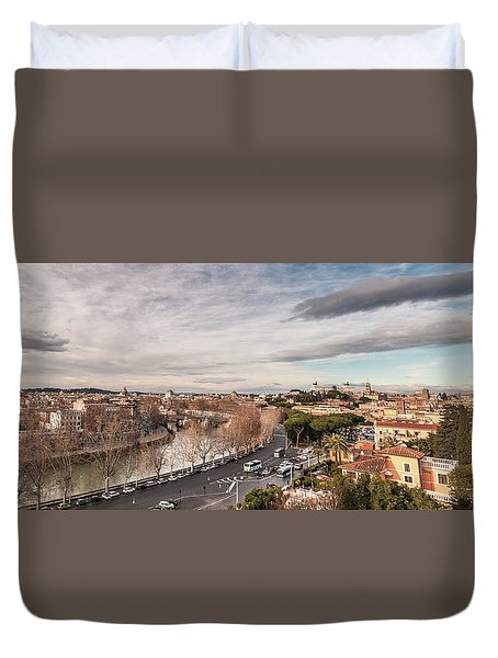 Rome - Panorama  Duvet Cover by Sergey Simanovsky