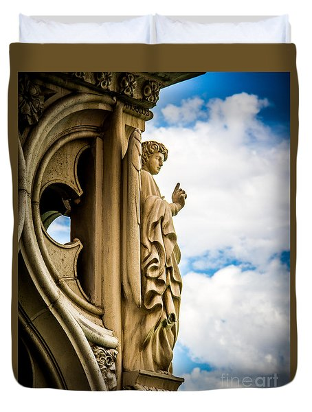 Rome Statue Duvet Cover