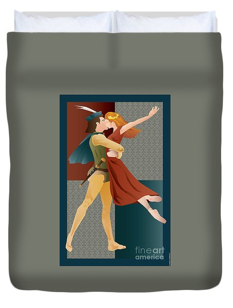 Romeo And Juliet Ballet Duvet Cover