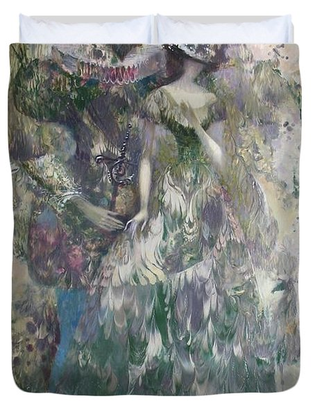 Romeo And Juliet. Monotype Duvet Cover