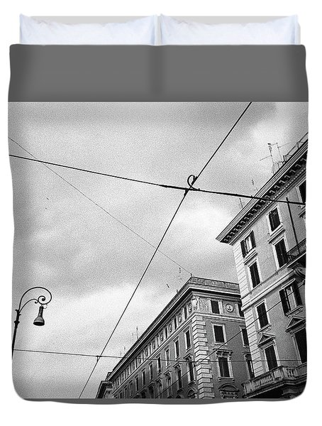Rome's Downtown Cable Sky Duvet Cover