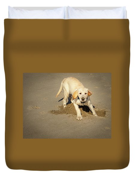 Romping Puppy Duvet Cover
