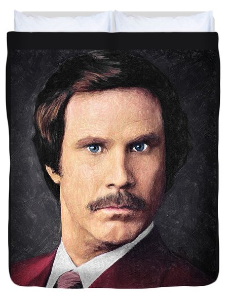 Ron Burgundy Duvet Cover