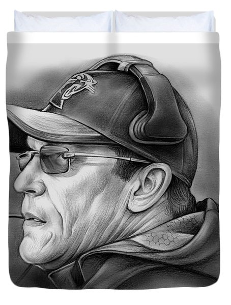 Ron Rivera Duvet Cover by Greg Joens