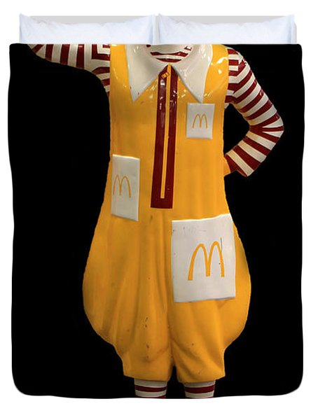 Ronald Mcdonald Duvet Cover by Andrew Fare