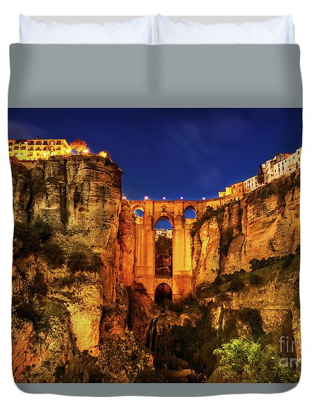 Ronda By Night Duvet Cover