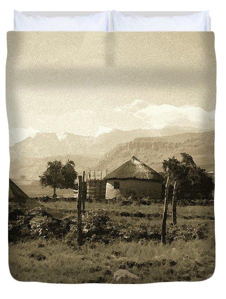 Rondavel In The Drakensburg Duvet Cover