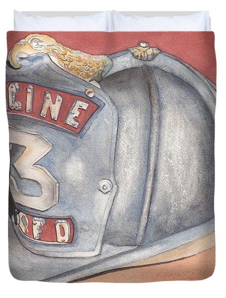Rondo's Fire Helmet Duvet Cover by Ken Powers