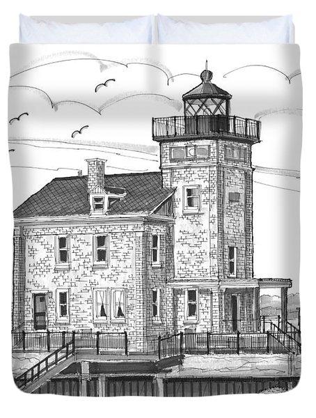 Rondout Lighthouse Duvet Cover