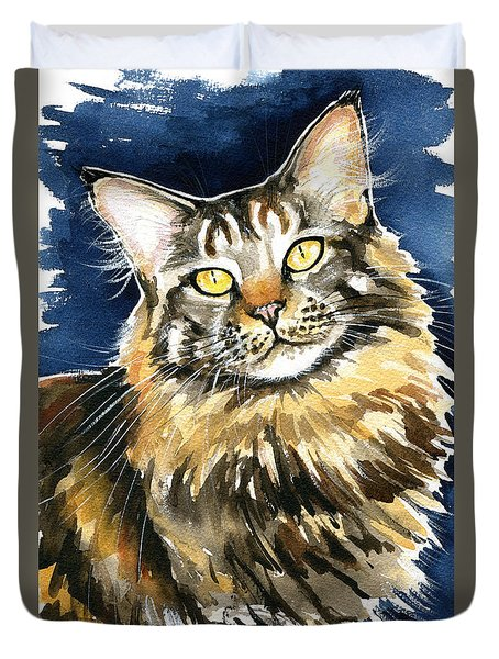 Ronja - Maine Coon Cat Painting Duvet Cover