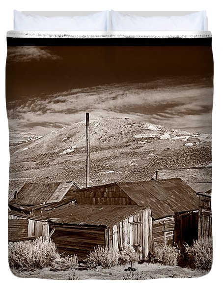 Rooflines Bodie Ghost Town Duvet Cover