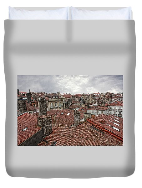 Roofs Over Santiago Duvet Cover