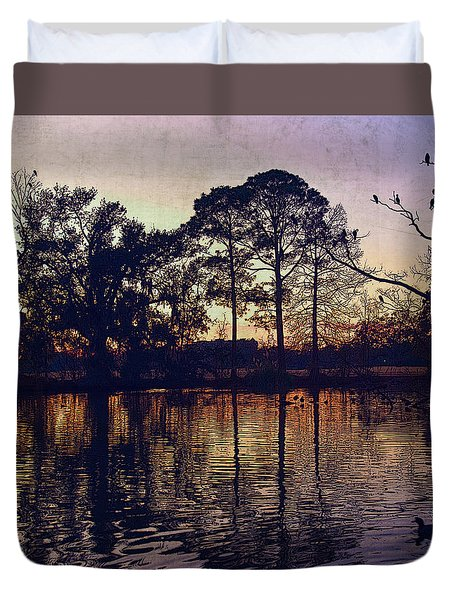 Duvet Cover featuring the photograph Rookery by Ray Devlin