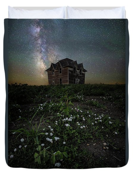 Duvet Cover featuring the photograph Room With A View by Aaron J Groen