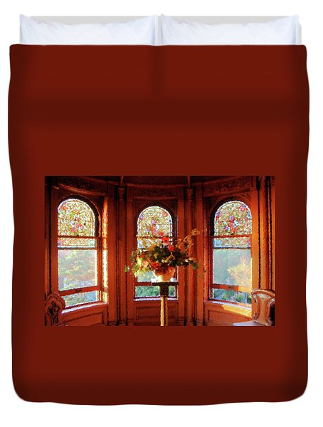 Duvet Cover featuring the photograph Room With A View by Kristin Elmquist