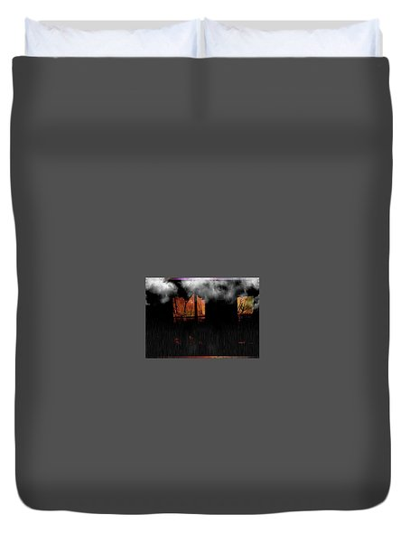 Room With Clouds Duvet Cover