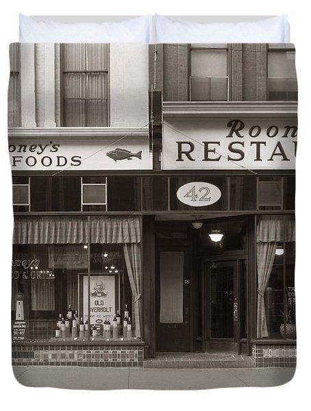 Rooney's Restaurant Wilkes Barre Pa 1940s Duvet Cover