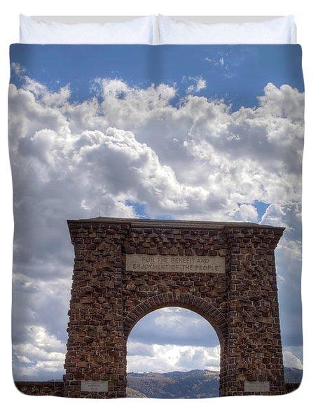 Roosevelt Arch Duvet Cover