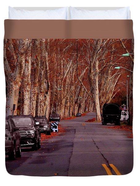 Roosevelt Avenue Red Duvet Cover