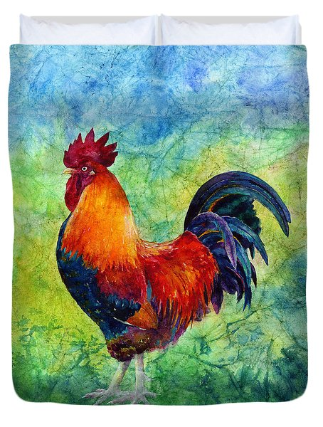 Rooster 2 Duvet Cover by Hailey E Herrera