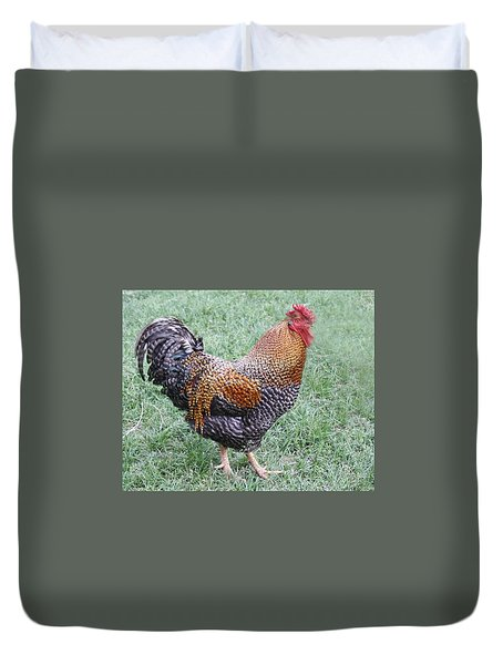 Rooster 2 Duvet Cover by Roena King