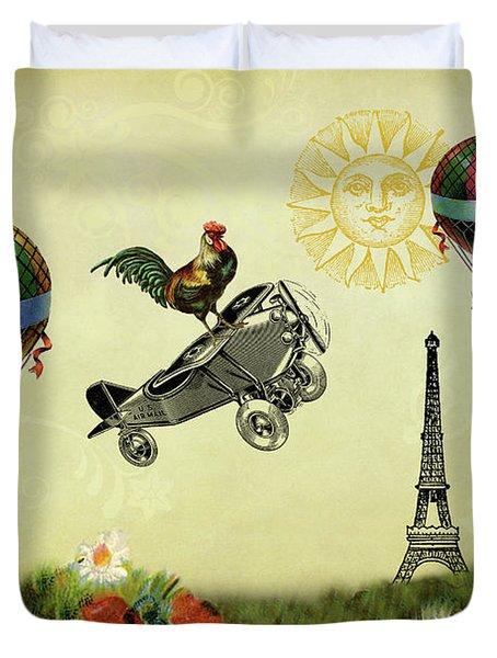 Rooster Flying High Duvet Cover