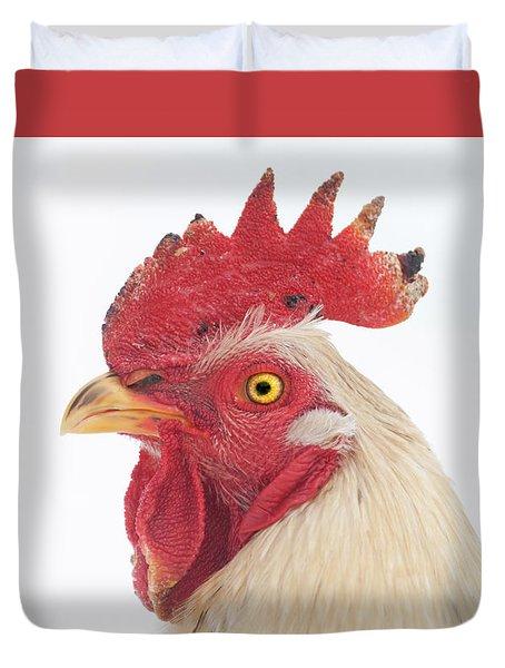 Rooster Named Spot Duvet Cover