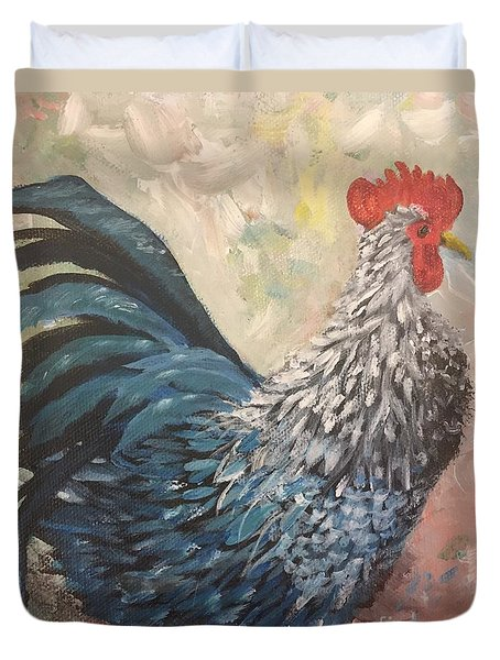 Rooster Of The Year Duvet Cover