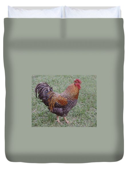 Rooster Duvet Cover by Roena King
