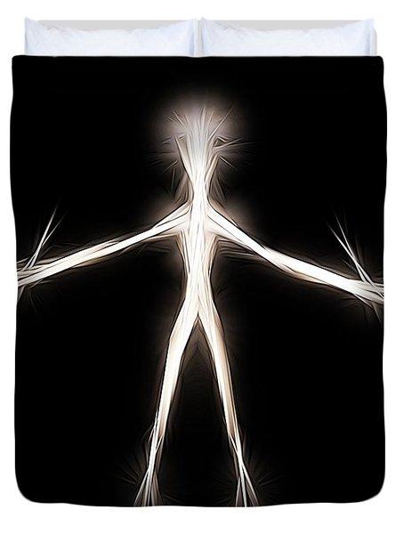 Root Man By Raphael Terra Duvet Cover