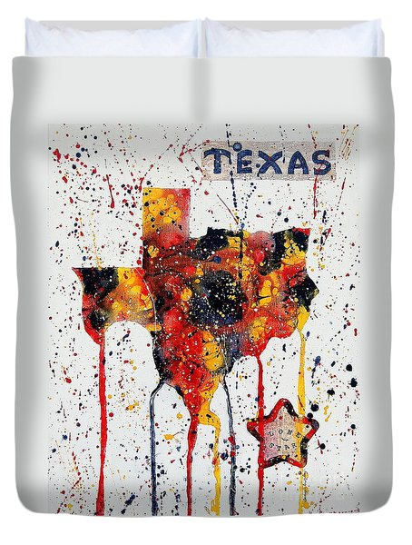 Rooted In Texas Duvet Cover
