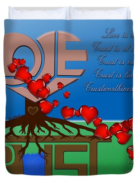 Rooted In Trust Duvet Cover