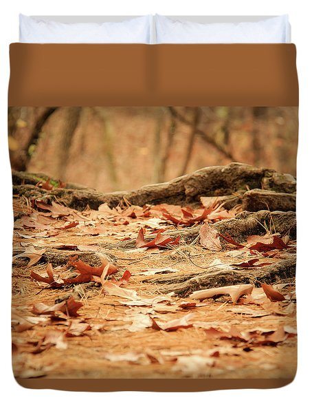 Roots Along The Path Duvet Cover