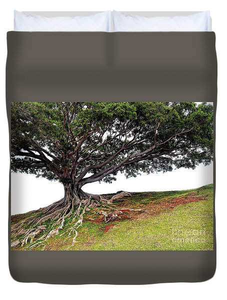 Roots Of Honolulu Duvet Cover by Gina Savage