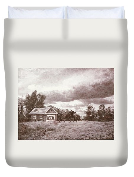 Roots Of The Farmer Duvet Cover by Bonnie Willis